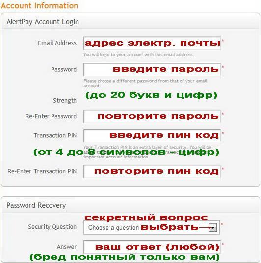 Payza регистрация на русском.
