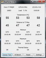 Real Temp 3.70 программа для просмотра температуры процессора Intel.