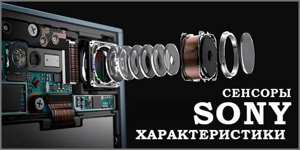 Характеристики фото сенсоров компании Sony Exmor RS/R.